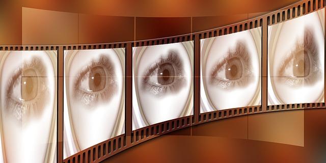 filmový pás a oko